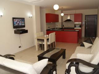 The living room and kitchen are just right for that perfect holiday