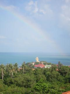 Rainbow over Big Buddah