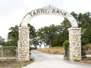 A entrada para fazenda