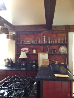 New appliances in the large eat-in kitchen