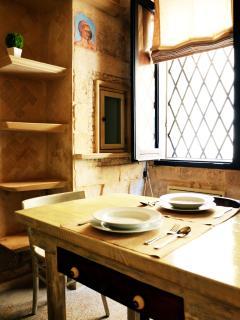 cucina dotata di area condizionata, TV LCD 26' con parabolica e WiFi illimitato