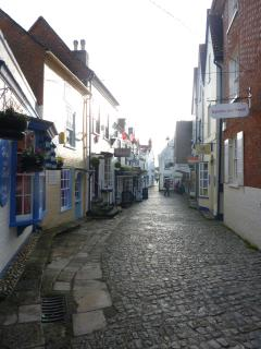 Lymington cobbled street.