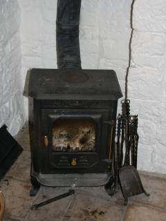 A lovely warming wood-burning stove
