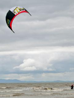 Kitesurfing is popular at Allonby
