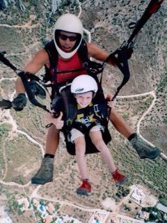 Paragliding in North Cyprus.