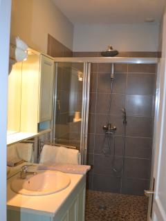 Large shower in the bathroom