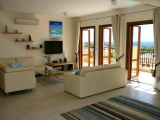 Huge living and dining area with home cinema system and spectacular sea views.