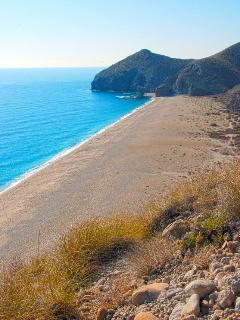 Playa de Los Muertos - Beach of The Dead. A long treck awaits you for this gem of the Almeria coast.