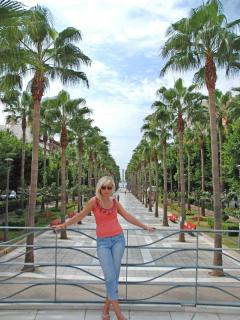 Stroll along the beautiful Calle Belen in Almeria and enjoy a palm lined paradise of relaxation.