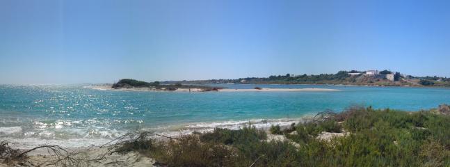 Manta Rota beach opposite Cacela Velha Fortress