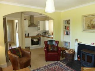 Gate Lodge's cosy open plan kitchen/lounge