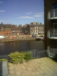 View of the river and Clifford's Tower from the shared terrace