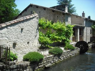 Beautiful Watermill Accomodation With Heated Pool, sleeps 6, Poitou Charentes !