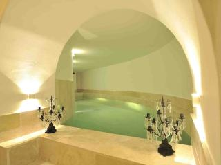 Indoor heated pool (10 m.),waterfall,hydromassage,chromotherapy,turkish-bath,2 showers,bathroom