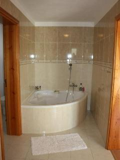 Ensuite bathroom - has a shower and separate WC