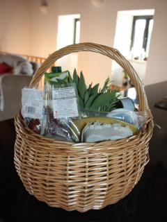 All of our guests will recieve a welcome pack on arrival containing local, seasonal produce.
