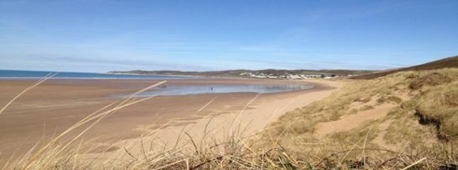 Enjoy Putsborough beach only a 10 minute drive from Oyster Cottage