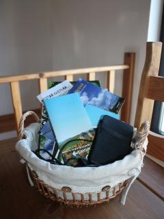 Sat Nav for guests use and tons of information to help you find great places to visit locally.