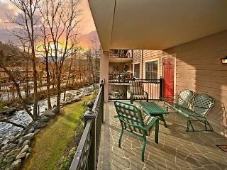 JANUARY SPECIAL FROM $89! 2BR Downtown Gatlinburg Condo w/ River View.