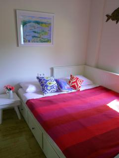 Retreat to one of the twin bedrooms