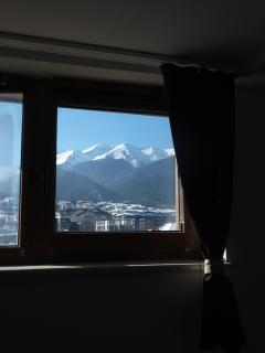 Morning mountain view from the sleeping room