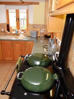 Authentic farmhouse kitchen