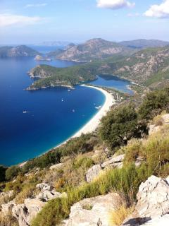 The outstanding sweep of Oludeniz Bay & the Blue Lagoon.