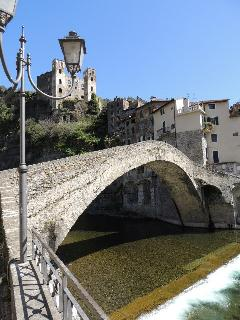 famous Monet bridge at Dolceacqua