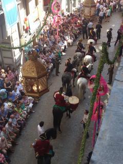 Vistas de la procesión del Corpus Christi (declarada de Interés Turístico Nacional)