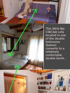 Previous double bedroom has also this IKEA sofa that converts to an extra relatively confortable bed
