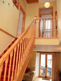 stairs up to bedrooms and bathroom