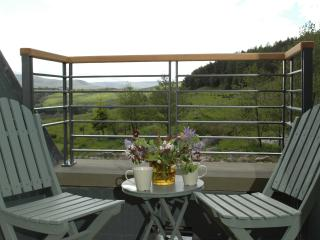 Balcony with stunning views over Strathbraan