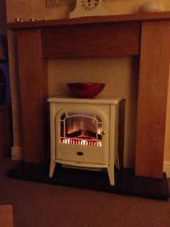 Log Effect fire for winter days