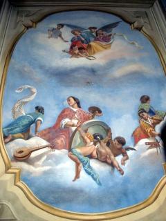 frescoed ceilings