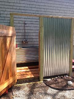 New Outdoor Shower