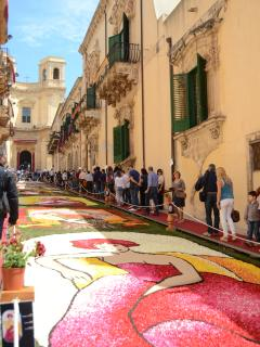 Infiorata, a flower festival which occurs in third and fourth week of May