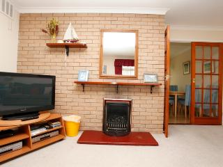 Feature fireplace adds an eye catching touch