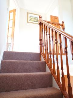 Come upstairs to your Bedroom with En-suite, Living Room & Balcony.