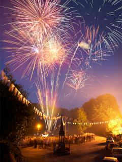 Fireworks that end Bonsall Carnival week - first Friday in August
