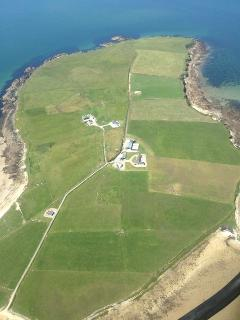 Aerial View of Claggan Island. July 2013