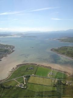 Aerial view with Claggan Island in the background, July 2013