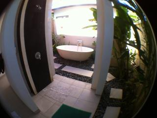 Semi Outdoor Bathroom and Tub