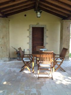 Private porch off annex