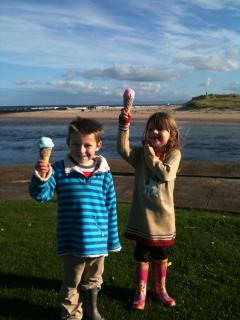 Enjoying Miele's ice creams on the Esplanade