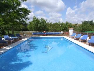 Walnut Farm 2 villas, superb location, sleeps 9, stunning heated pool, bar,WIFI