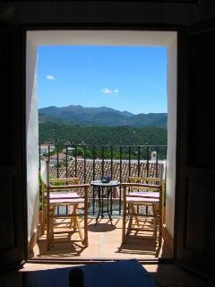 The view from your balcony is stunning. Sit with a cold beer and gaze into the mountains