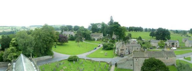 The village panoramic view from on top of the church tower.