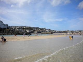 View from St.Ives harbour beach, 3 minutes walk from the maisonette.