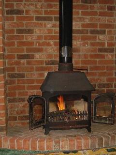 Log burner in the living room