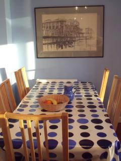 Kitchen table - ready to be set for a meal